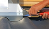 Creative Use of Roof Flashing: Make a Kitchen Backsplash