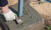 Installing a cinder block for foundation