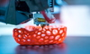 3d printer creating biological lattice structure