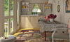 light tiny home interior with furnishings