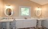A clean white bathroom.