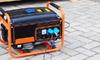 a black and orange generator