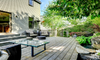 Landscaped yard and patio