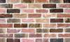Multi-colored brick wall