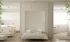 White living space with a wall bed