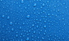 water droplets on  blue background