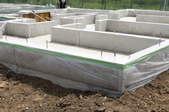 foundation for a building