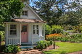 beautiful tiny home with garden and lawn
