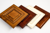 four cabinet doors laying together