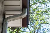 downspout and gutter on a home