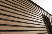 brown siding on a house