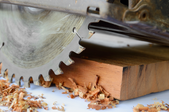 a circular saw resting on a piece of lumber