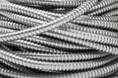 A pile of electrical conduit.