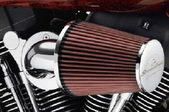 a crankcase breather in a car engine