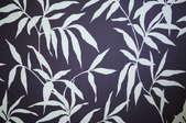 dark blue wallpaper with white leaves