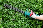 A hedge trimmer.
