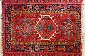 An oriental rug.