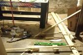 Leveling a basement floor.