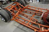 orange car chassis
