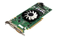 A graphics card set against a white background.