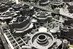 Row of engine cases