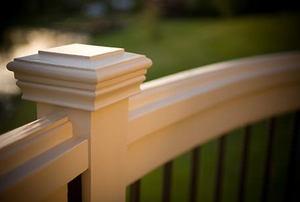 A custom deck railing.