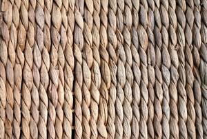 A woven rug.
