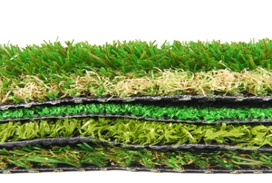 Layers of artificial grass