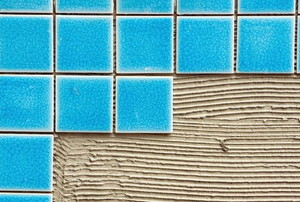 tiles on a cement background