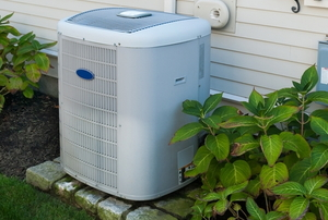 outdoor element of a home HVAC system