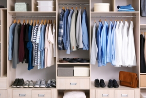 neatly organized closet