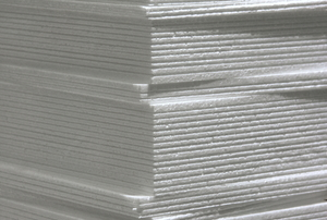 Stack of foam board panels