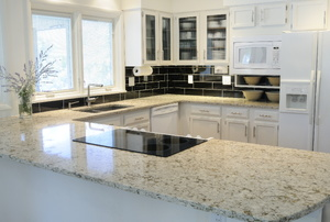 A home with granite counters.