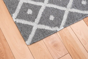 An area rug protecting a wood floor.