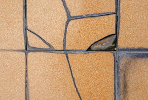 cracked tile