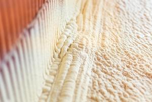 Spray foam insulation.