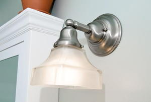 Sconce light with clouded shade
