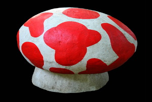 A concrete Mario Brothers mushroom for your backyard.