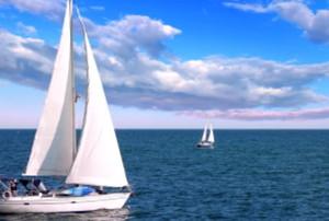 old renewed sailboat