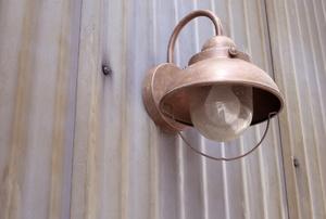 Exterior copper light fixture