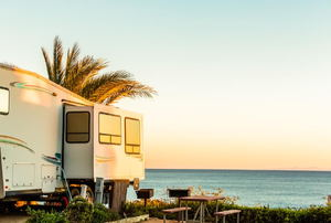an RV by the beach