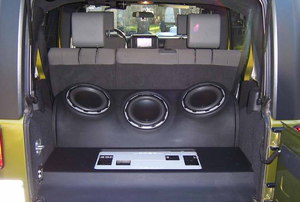 Subwoofers in a car