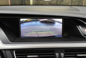 a parking camera in a car