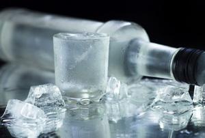 A bottle of vodka.