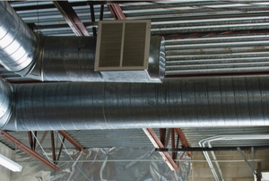 ductwork in a garage