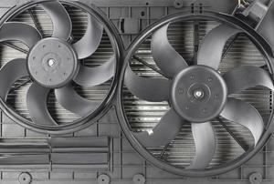 two radiator fans
