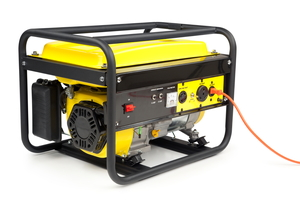 A portable electric generator on a white background.