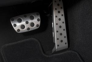 A brake pedal.