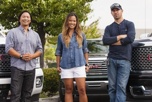Contestants in the 2015 GMC DIY Challenge standing in front of a truck