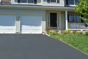 House with an asphalt driveway